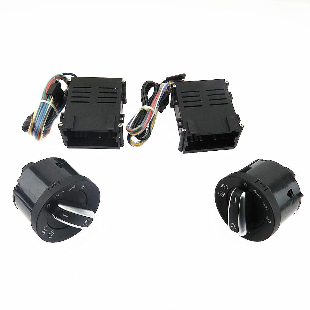 SCJYRXS Chrome phare interrupteur Auto capteur lumière pour Passat B5 nouveau Bora Polo Golf MK4 Santana 5ND941431B 5ND 941 431 B