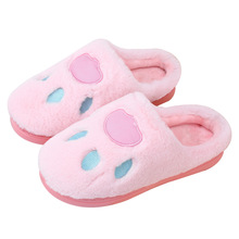 Slippers Women 2019 Indoor House plush Pink Soft Cute Cotton Shoes Non-slip Floor Home Slides TUX49
