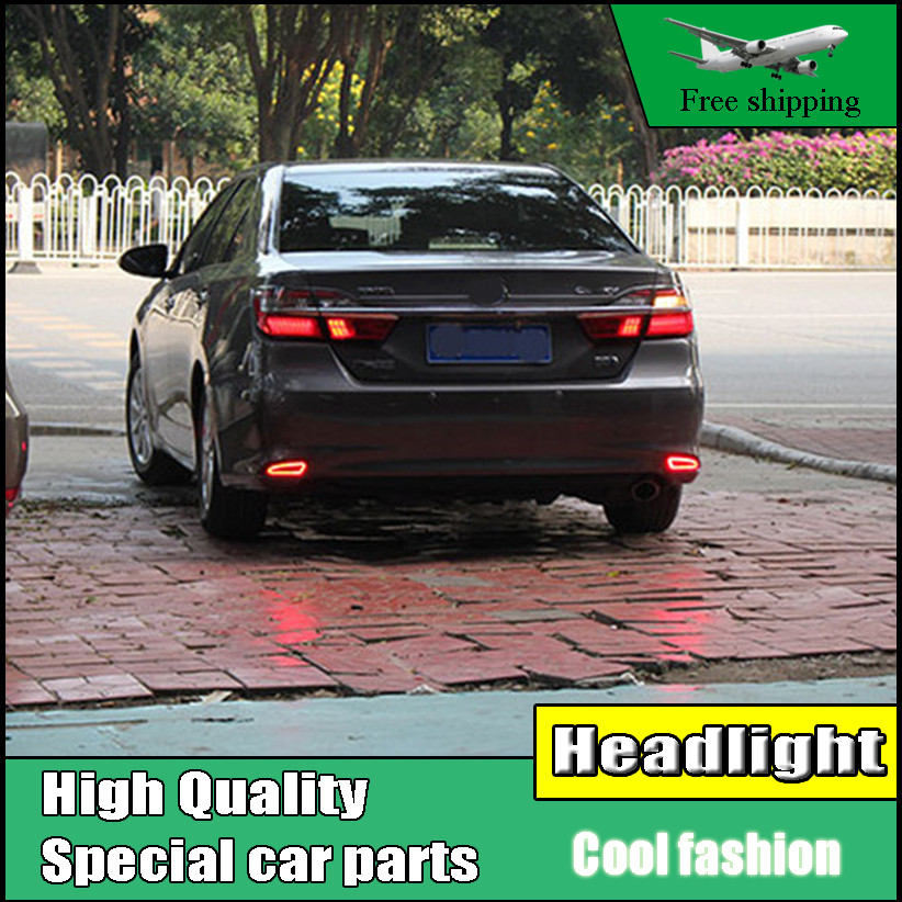 Us 50 0 Car Styling Led Rear Bumper Warning Light For Toyota Camry V55 2015 2016 Brake Light Rear Bumper Reflector Driving Light In Car Light