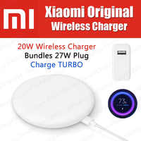 Stock 27W Plug Original Xiaomi Wireless Charger 20W Max 15V For Xiaomi Mi9 Charger S10 Plus Qi EPP10W For iPhone XS Max XR
