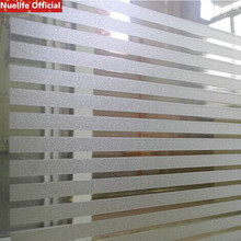 cheap 3D Stripe Static Frosted Glass Sticker Office Living Room Bedroom Bathroom Decorative Film Non-Glue Window