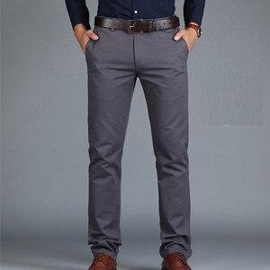 Image 1 - ICPANS Pants Loose Cotton Full Length Men Pants Casual Pockets Army Khaki Black Male Trousers Pants Men social Big Size Summer
