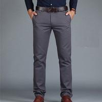 ICPANS Pants Loose Cotton Full Length Men Pants Casual Pockets Army Khaki Black Male Trousers Pants Men social Big Size Summer