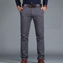 Spodnie ICPANS luźna, bawełniana pełna długość męskie spodnie casualowe kieszenie armia Khaki czarne męskie spodnie spodnie męskie społeczne duże rozmiary lato