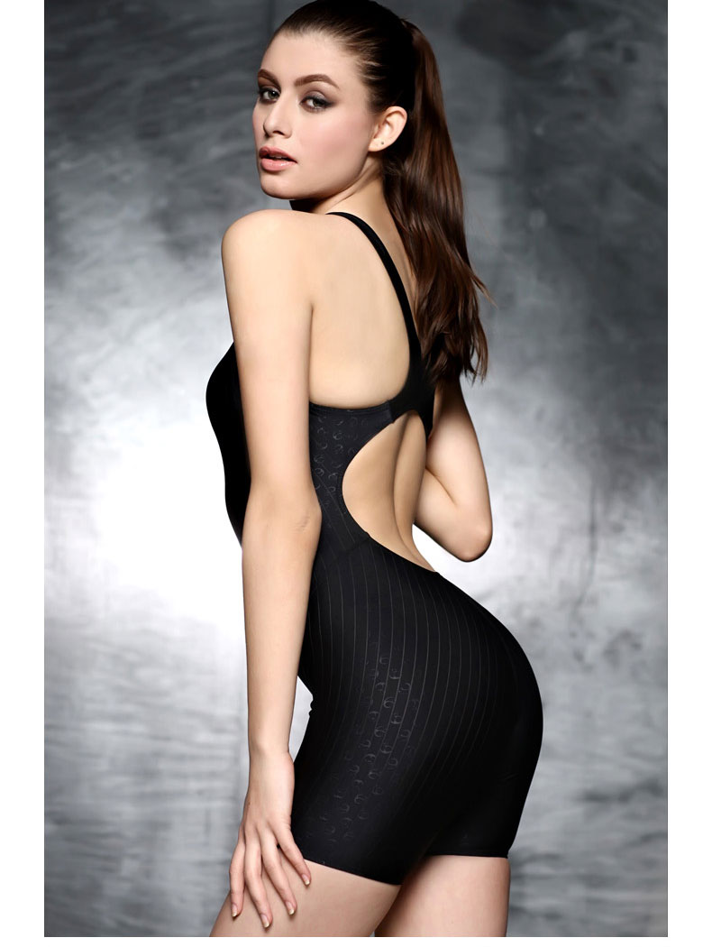 Solide noir Long une pièce maillot de bain minceur femmes maillots de bain grande taille 3XL professionnel athlétique body surf maillot de bain