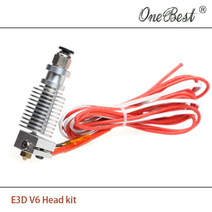 2017  E 3D V6 Full Metal printer head Remote Extrusion Head 1.75/0.4mm Nozzle E 3D V5 upgrade Improvement With line parts flsun 3d printer big pulley kossel 3d printer with one roll filament sd card fast shipping