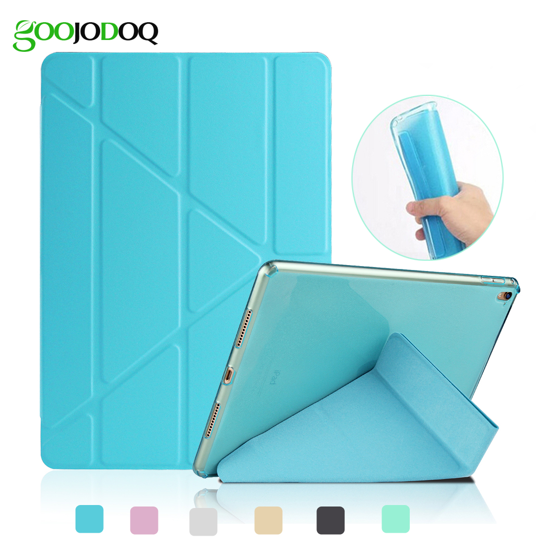 For iPad Air 2 Air 1 Case,for iPad Mini 1 2 3 Transformers Smart Cover with Glitter Silicone Soft Back Tablet Coque for iPad Air for ipad air 1 2 cute candy color soft silicone tablet case cover for ipad 5 6 mini 2 3 fashion slim lovely protective sleeve
