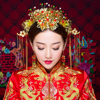 Vintage Handmade Chinese Style Headpiece Tassel Bridal Wedding Traditional Hairwear Hair Stick Comb Dnagle Earrings Jewelry