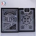 1 DECK Tally Ho Viper FAN Back Playing Cards Deck Black & Silver USPCC (UV500) Ellusionist Magic Card