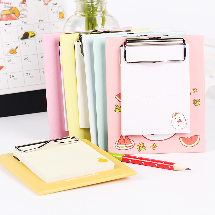 Cartoon Mini Clipboard Memo Pads Fruit Notesbook Kawaii Creative Office Stationery Work Planner Diary Agenda Sticky Notes цена и фото
