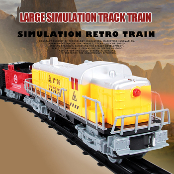 Children's Educational Track Toy Classical Simulation Super Long Track Set Children's Assembled Train With Lights Sound