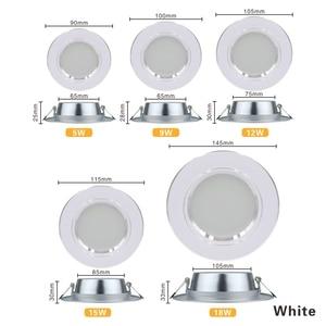 LED النازل 5 W 9 W 12 W 15 W 18 W راحة مصابيح LED مستديرة السقف مصباح AC 220 V 230 V 240 V إضاءة داخلية الدافئة الأبيض الباردة الأبيض