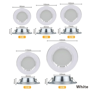 LED Downlight 5W 9W 12W 15W 18W Recessed Round LED Ceiling Lamp AC 220V 230V 240V Indoor Lighting Warm White Cold White