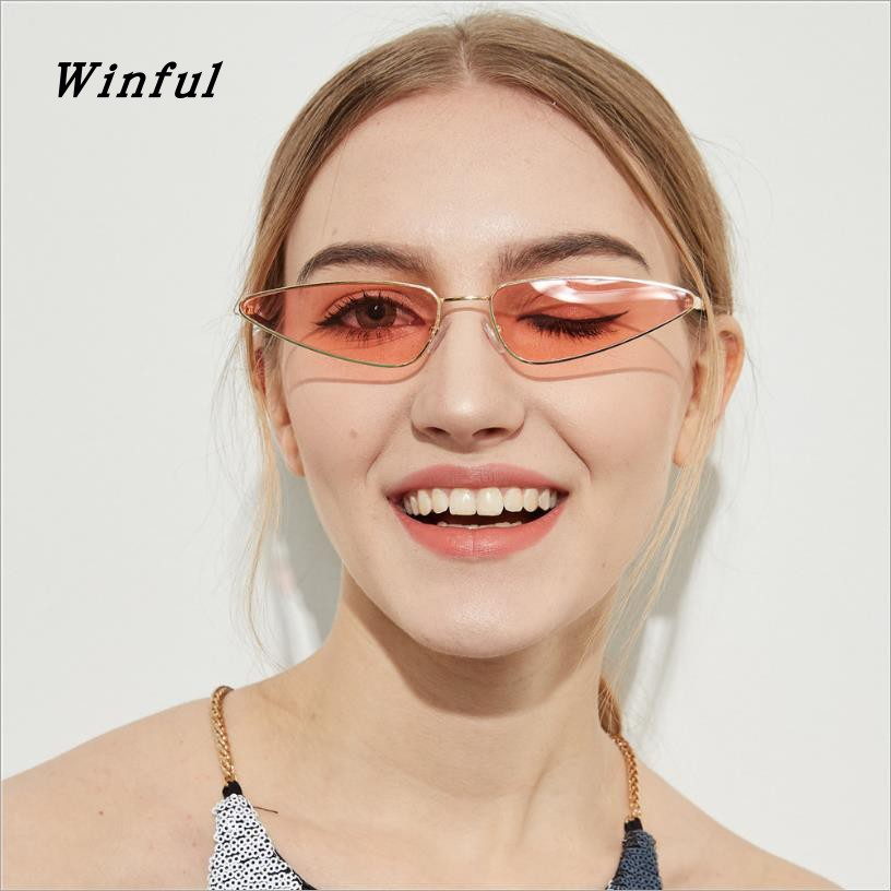 New Women Small Cat eye Sunglasses Cute Sexy 2018 Hot Fashion Sun Glasses Stainless Steel Frame Vintage Sunglass uv400