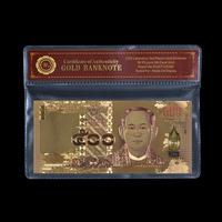 WR Birthday Decoration Items Bhumibol Adulyadej Memory Colorful Gold Banknote Collective 500 Baht Currency Bills for Gifts