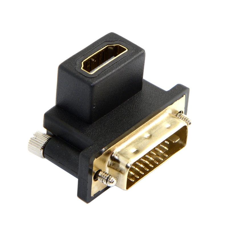 90 graden HDMI Female naar DVI Male adapter - Computer kabels en connectoren - Foto 3
