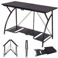 Goplus Modern Folding Computer Desk Home Office Study PC Writing Table Portable Simple Modern Furniture Black