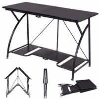 Goplus Modern Folding Computer Desk Home Office Study PC Writing Table Portable Simple Modern Furniture Black