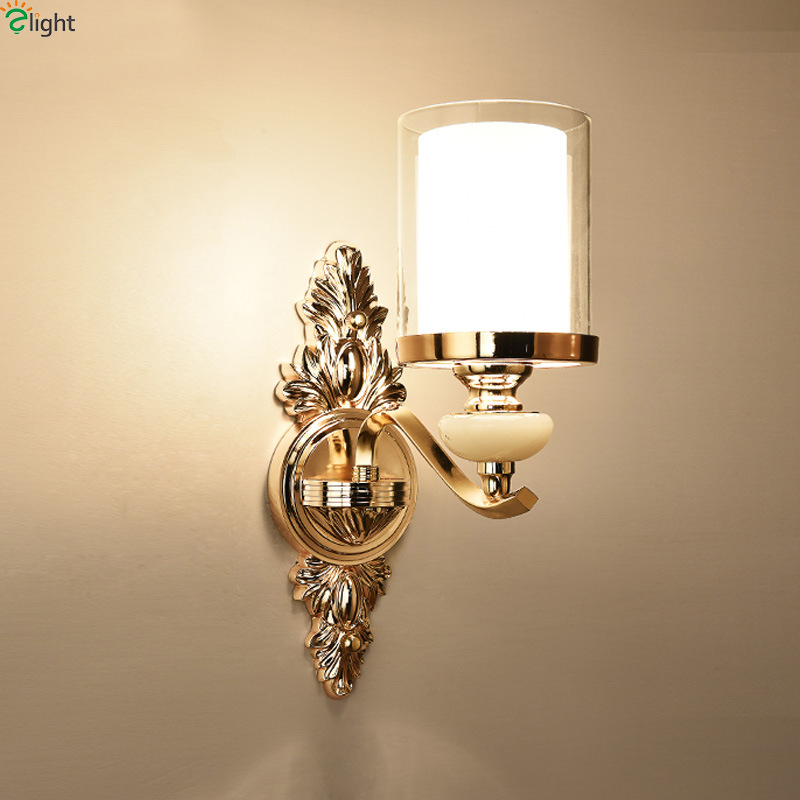 Modern Gold Metal Led Wall Lamp Marble Deco Bedroom Led Wall Lights Fixtures Living Room Led Wall Light Corridor Led Wall Sconce luxurious crystal wall lamp metal plating modern wall light hotel ideas wall lights indoor modern wall lamps art deco lighting