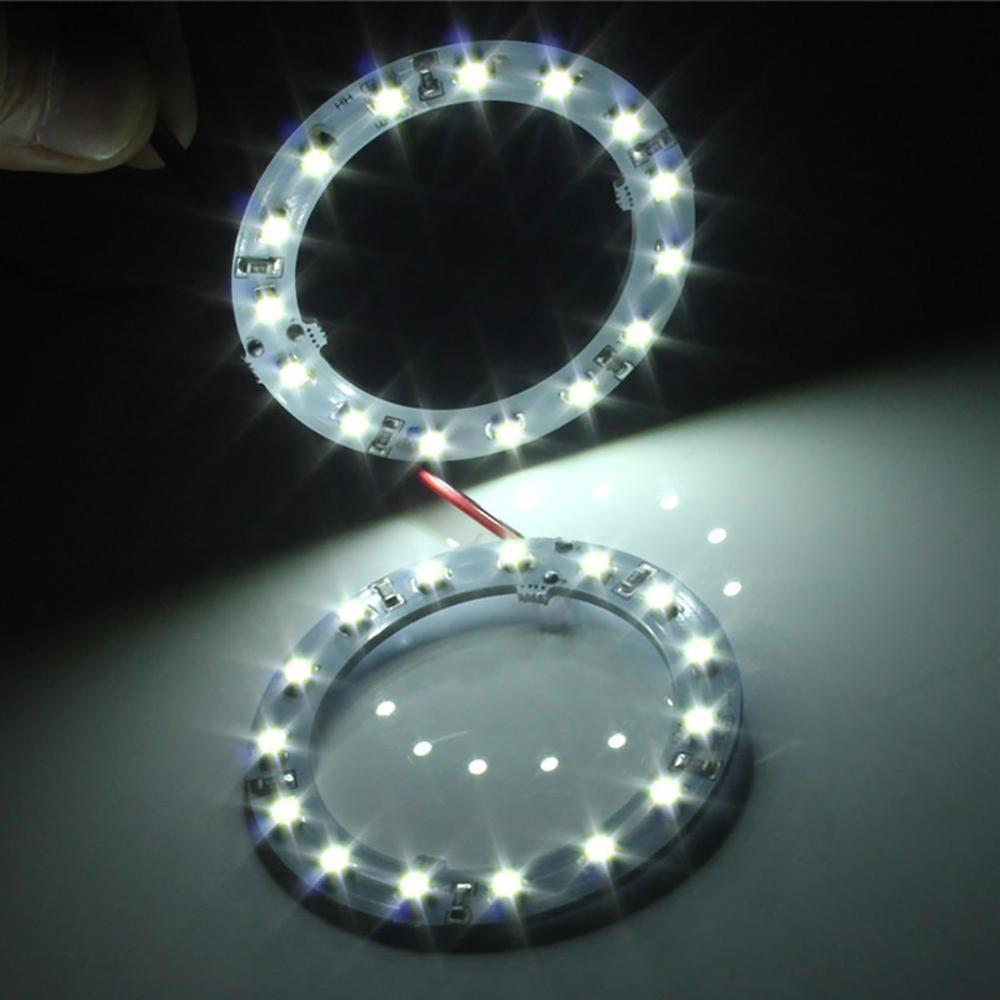 1 Pcs Car-styling 60mm Angel Eyes LED Head Light Ring Light Bulb Decorative Lamp 3 Colors For Car Auto Motorcycle