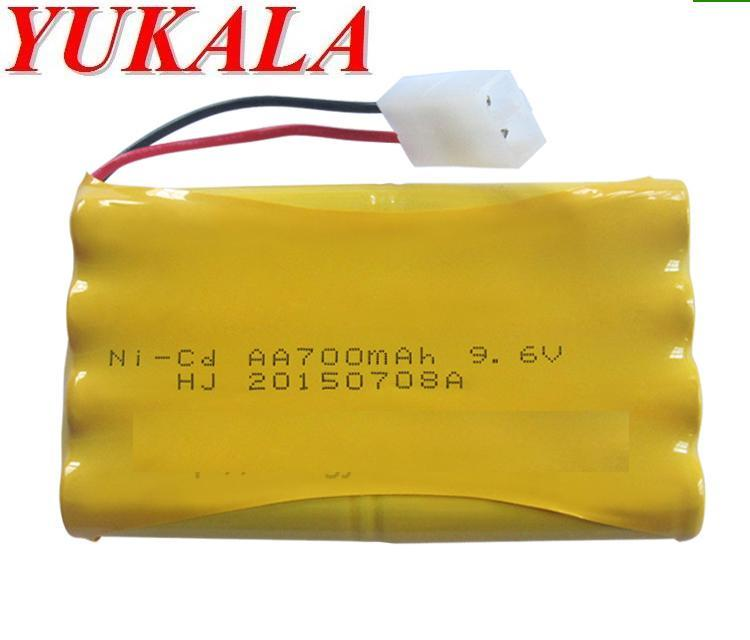 YUKALA RC car RC boat RC tank 9.6V 700mAh N-CD AA Battery Free shipping yukala ft012 2 4g rc racing boat hq734 rc car 11 1v 2700 mah li polymer battery