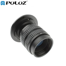 PULUZ S-DAL-0008 35mm 1:1.7 C-NEX Mount CCTV TV Lens with Stepping Ring