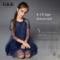 2016 мода весна-лето стиль Марка девушка одежда сетки цветок девушка Платье принцессы платье детей платья для девочек 4-19 возраст
