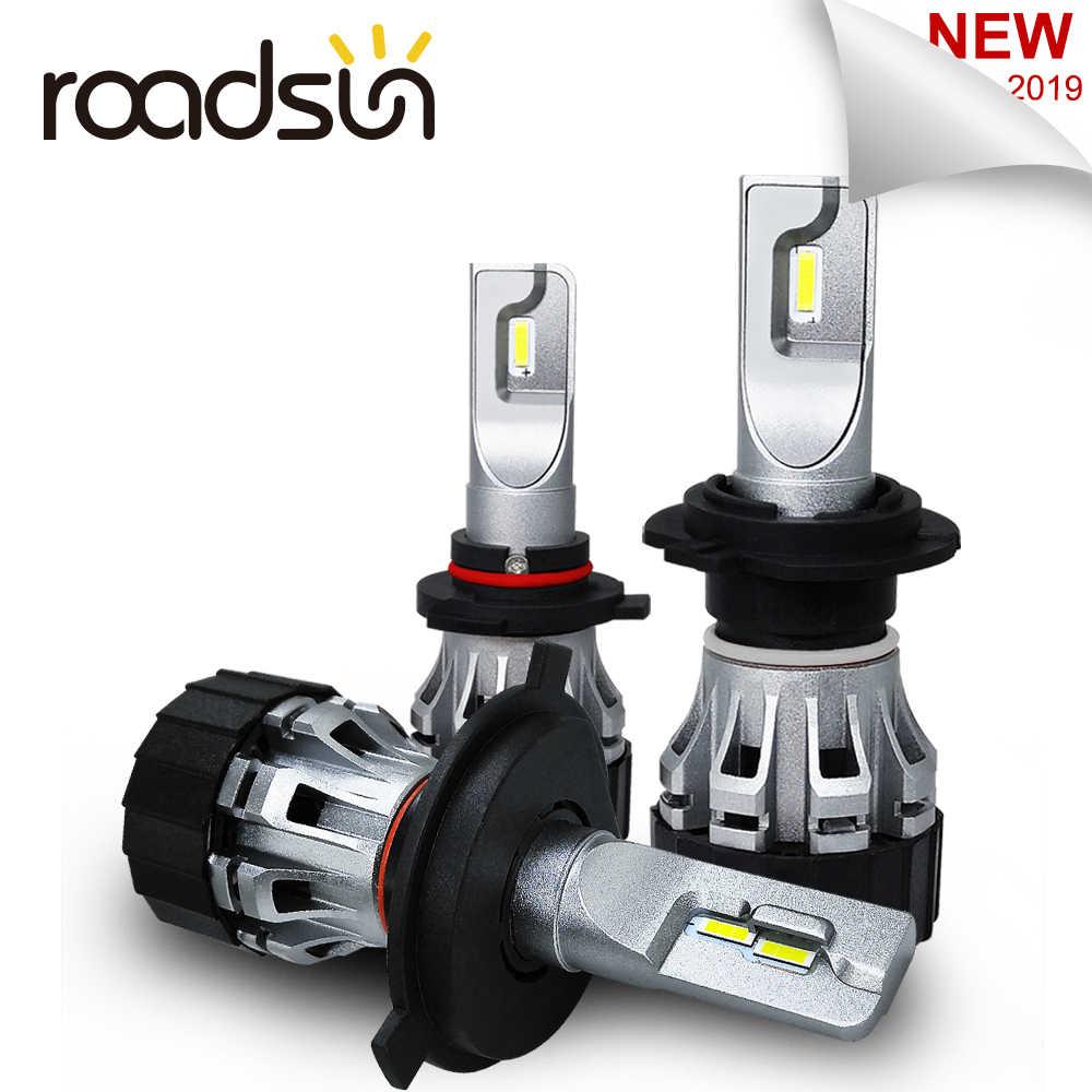 Roadsun רכב אור הנורה H7 LED CSP שבב H1 H11 9005 9006 HB3 HB4 H4 Led פנס אוטומטי רכב מנורה 12 V 6000 K 8000LM 2019 חדש
