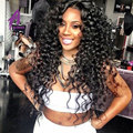 7A Indian Deep Wave Virgin Hair Weave Natural Black Virgin Indian Hair Bundles Deep wave Raw Virgin Indian Deep Wavy laceclosure