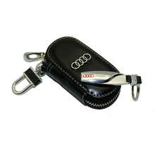 Accessories Leather Key Wallet Car Key Case Leather Key Holder Keychain For Audi A1 A3 A4 B6 B8 C5 80 A Q TT S RS Sline Series