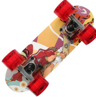 Portable Mini Skate Board Bamboo Deck Peny Board Long Board Brush Street Deck Skateboard Four Wheels Drift Flying Skate Board