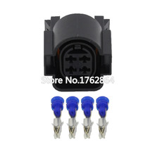 10 PCS  PA66 4 Pin Female Auto Sealed Wire Harness Electronic Connector DJ70450-3.5-21