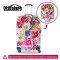 Dispalang subiu elástico grosso carrinho de bagagem do curso de proteção capas para 18-30 polegada caso da cópia da flor tampa da mala à prova d' água