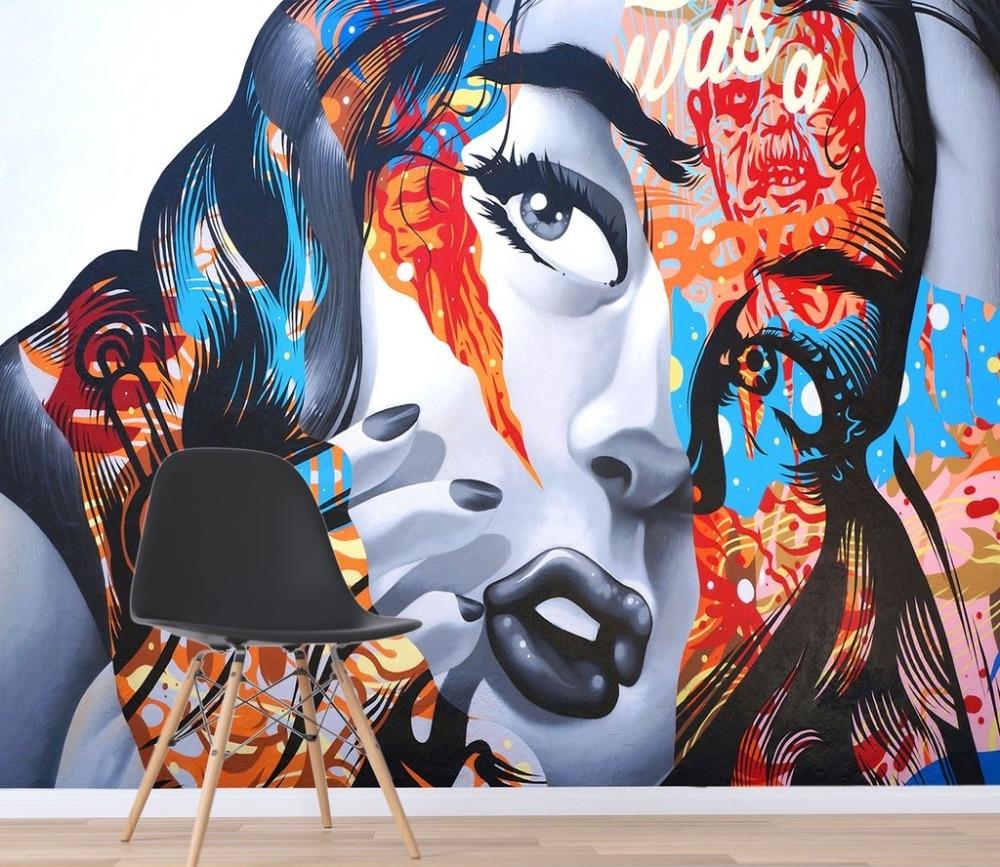[Self-Adhesive] 3D Hip Hop Beauties Graffiti 7 Wall Paper Mural Wall Print Decal Wall Murals