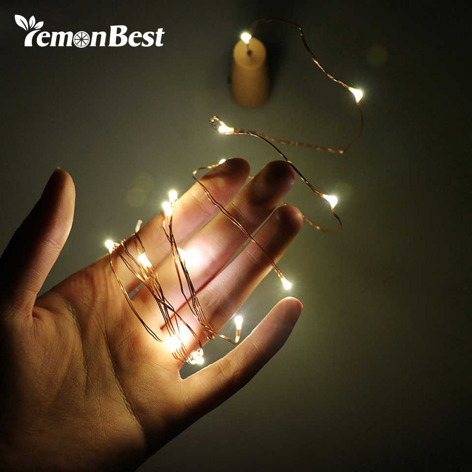 2m 20-LED Copper Wire String Light with Bottle Stopper Led Lights Decoration Fairy Lamp Party Home Christmas Wedding Decoration