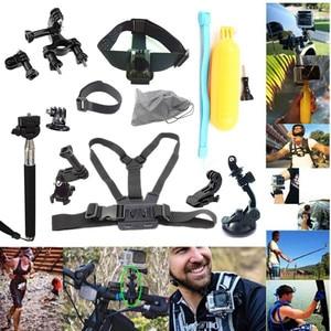Image 1 - GoPro Kit di Accessori Per Go Pro SJCAM SJ4000 SJ5000 SJ7000 Action Camera accessori Pacchetto Set Per Hero 1 2 3 3 + 4 Xiao Mi Yi