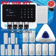 Бесплатная Доставка! НОВЫЙ Синий мигающий сирена ПРИЛОЖЕНИЕ G90B WiFi GSM GPRS Беспроводной Охранной охранной Системы Полный Комплект Сенсорный Пароль клавиатура