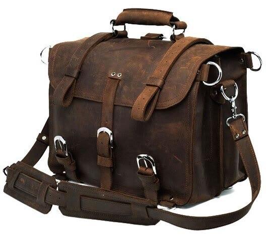 Vintage Crazy horse Genuine Leather Men Travel Bags Luggage Travel Bag Leather Men Duffle Bag Large Men Weekend Bag Overnight