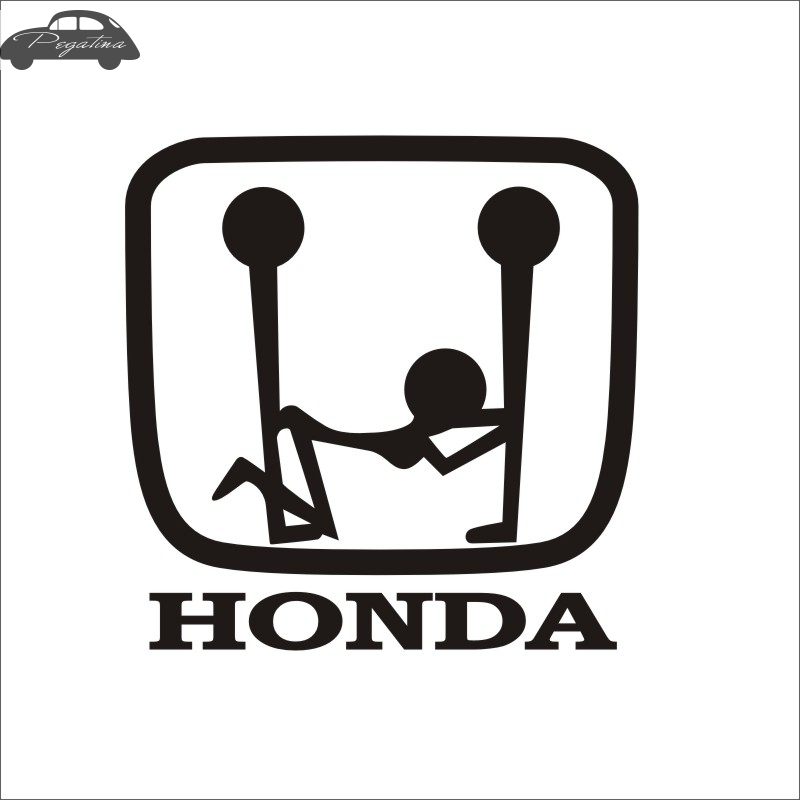Pegatina Sexy BLOWJOB 3P Logo Hon Decal Beauty Oral Sex Funny Car