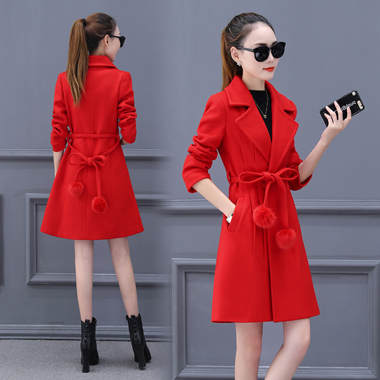 Femme Laine 3 Et Mince Sauvage 4 Section Taille Grande 2 Minceur De 2018 Printemps Manteau Nouveau Longue Mode Hiver 1 Automne Marée RqxEtvwZ