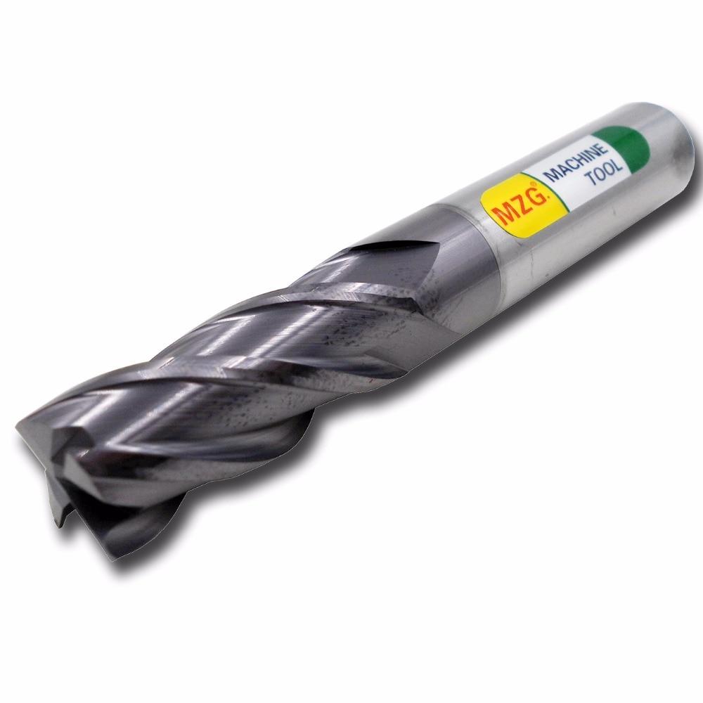 Mzg preço com desconto corte hrc50 4 flauta 4mm 5mm 6mm 8mm 12mm liga de carboneto moagem tungstênio fresa de aço fresa fresa end mill