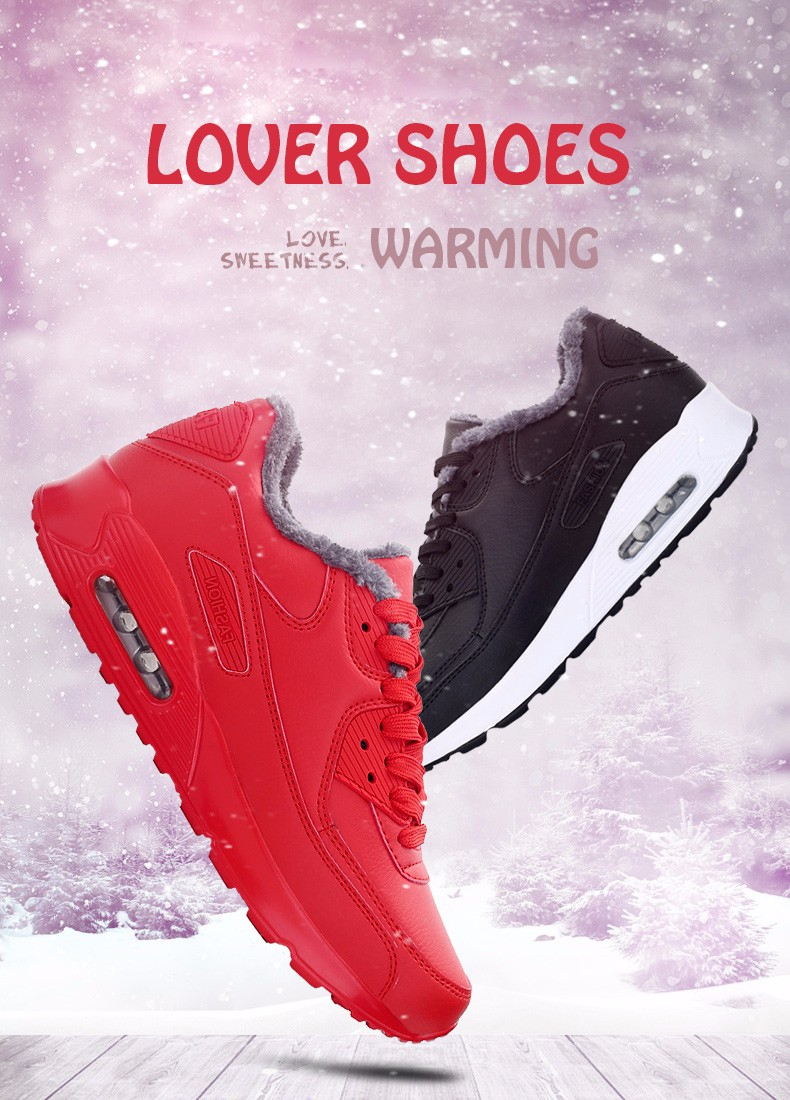 Plush Warm Women 90 Casual Shoes Winter Fashion Lace Up Sport Men Shoes Superstars Leather Runner Shoes Unisex Trainers YD11 (3)