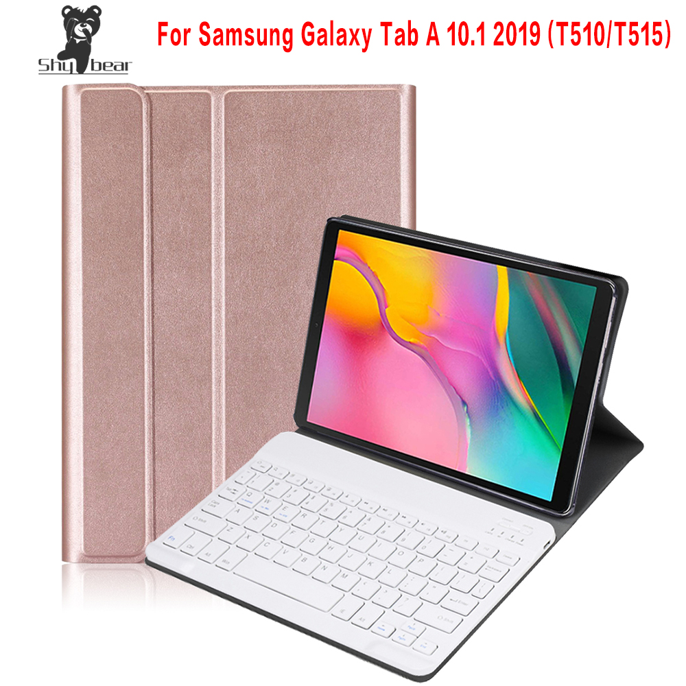 Wireless Bluetooth Keyboard Case for Samsung Galaxy Tab A 2019 SM-T510 SM-T515 T510 T515 Detachable Tablet Cover CaseWireless Bluetooth Keyboard Case for Samsung Galaxy Tab A 2019 SM-T510 SM-T515 T510 T515 Detachable Tablet Cover Case