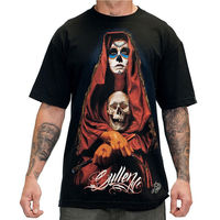 Sullen Acuna Badge Black Hip Hop Skull Clothing Apparel Tops Quality T Shirts Men Printing Short Sleeve O Neck