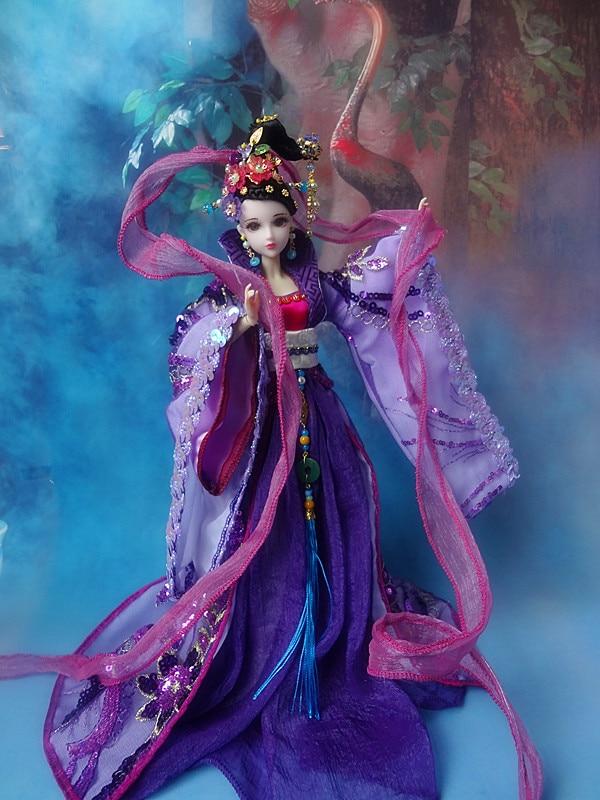 Gratis Shopping 32cm high-end kinesisk Qing Dynasty Princess Dolls - Dockor och tillbehör - Foto 2
