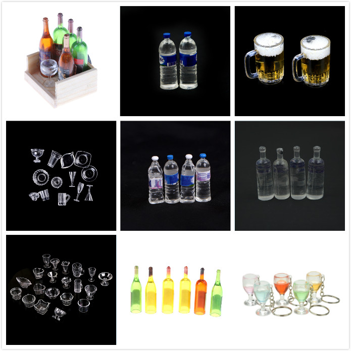 5pcs 1:12 scale miniature dollhouse drink bottle food play kid kitchen toy LE