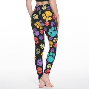 Image 2 - 女性のレギンススリムデジタル印刷幾何学ストライプ新レギンス春夏大サイズファッション女性