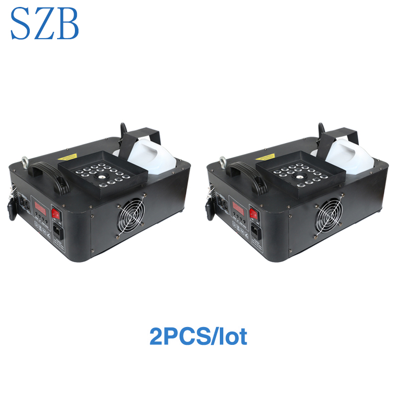 Stage Lighting Effect Commercial Lighting 2 Pcs 1500w Rgb 3in1 Dmx Led Fog Machine Pyro Vertical Fogger Smoke Machine 24pcs Rgb 3in1 Led Colorful Fog Machine/szb-fm1500 We Have Won Praise From Customers