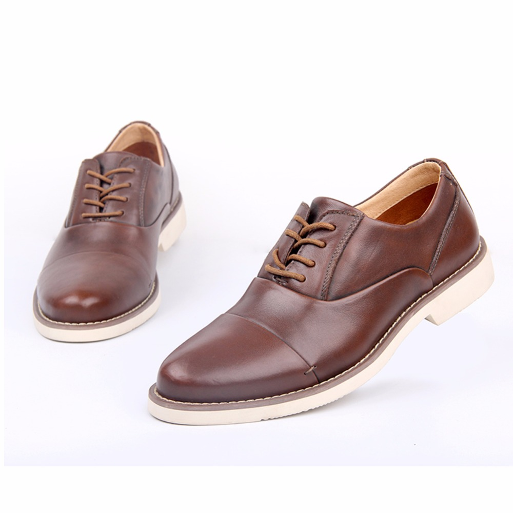 Men Genuine Leather Dress Shoes Luxury Trainers Winter Wedding Boots ... c4413983c26
