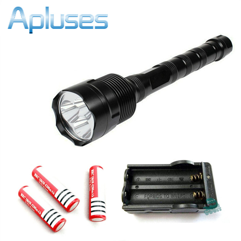 3800Lm TrustFire 3x CREE XM-L T6 5 Modes LED Flashlight waterproof Torch light outdoor lamp + 3piece 18650 battery + charger outdoor camping cree xm l 2000lm waterproof 5 modes focus adjustable led flashlight torch light lamp with 18650 and bike clip